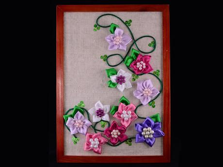 Розы из ткани картины