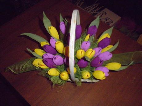 Букеты тюльпаны из конфет своими руками для начинающих пошагово
